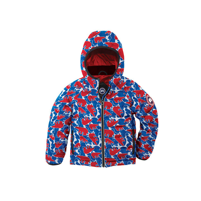 Cheap Canada Goose Kids Bobcat Hoody Polar Camo Sale