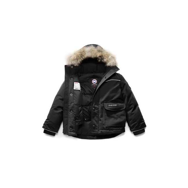 Cheap Canada Goose Kids Lynx Parka Black Sale