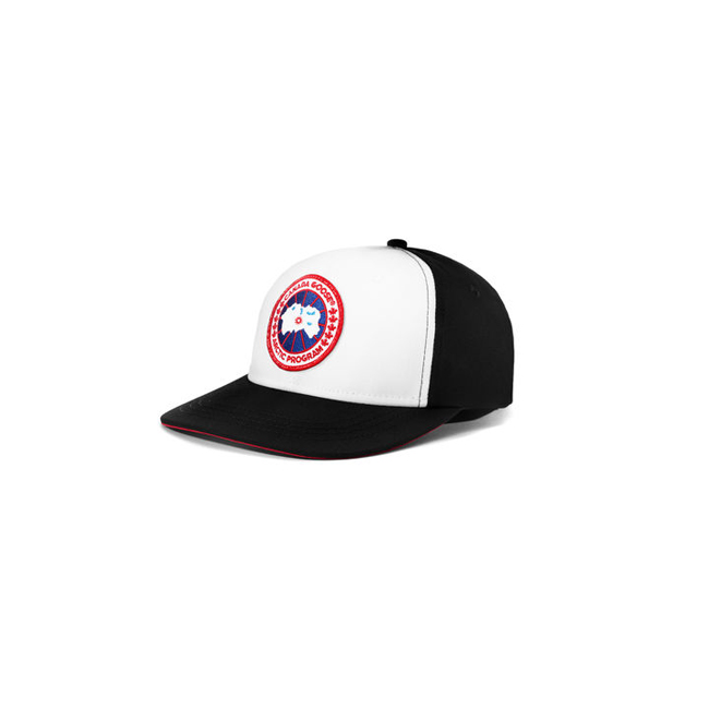 Cheap Canada Goose Men Adjustable Ball Cap Black/White Sale