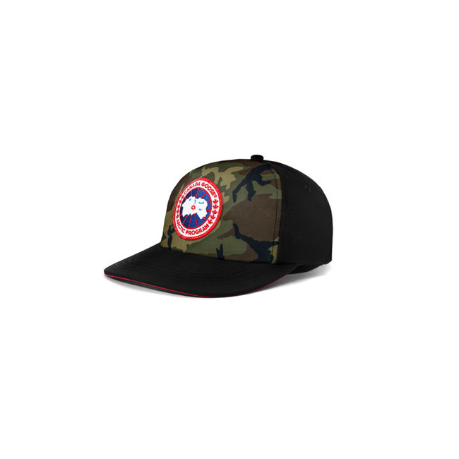 Cheap Canada Goose Men Adjustable Ball Cap Camo/Black Sale