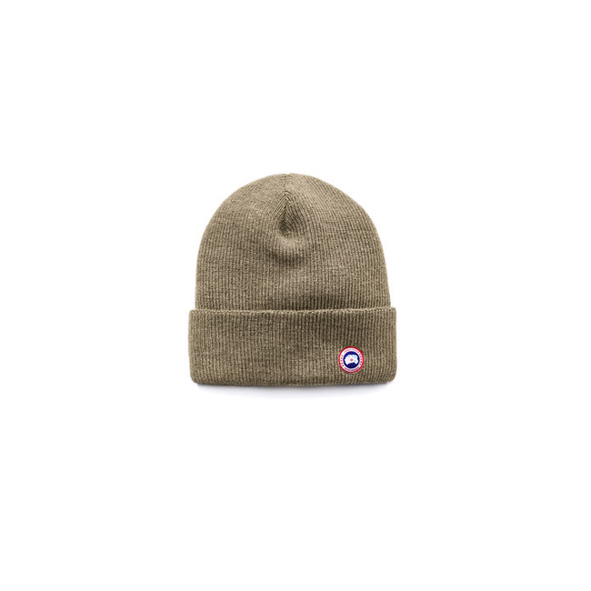 Cheap Canada Goose Men Merino Wool Watch Cap Military Green Sale