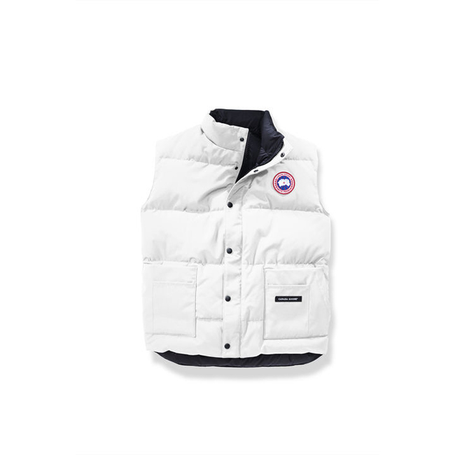 Cheap Canada Goose Men Freestyle Vest White Sale