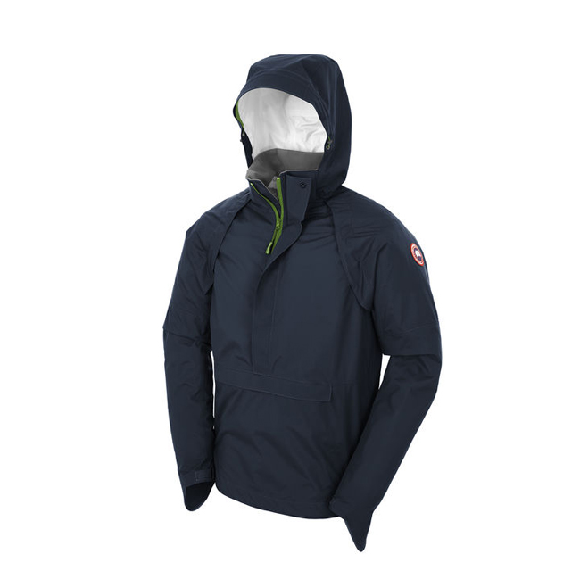 Cheap Canada Goose Men Brunswick Anorak Shell Midnight Blue/Green Aster Sale