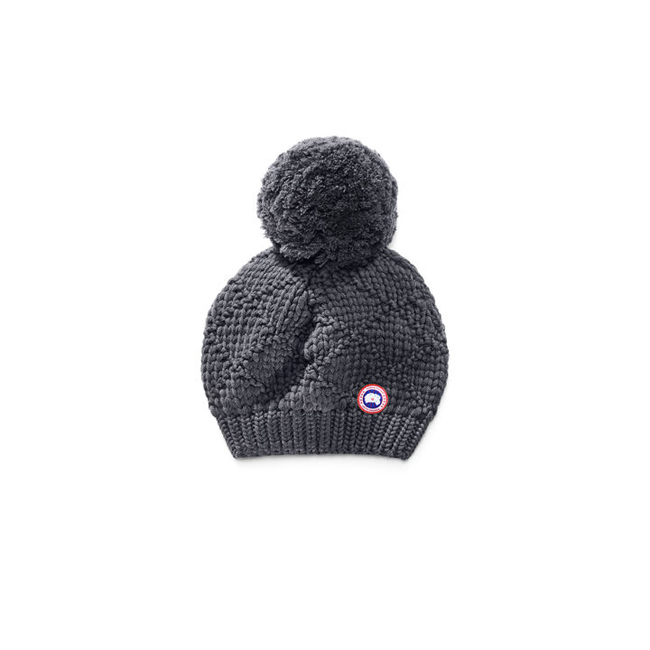 Cheap Canada Goose Women Oversized Pom Toque Ink Blue Sale
