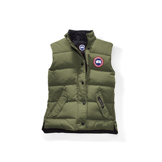Cheap Canada Goose Women Freestyle Vest Military Green Sale