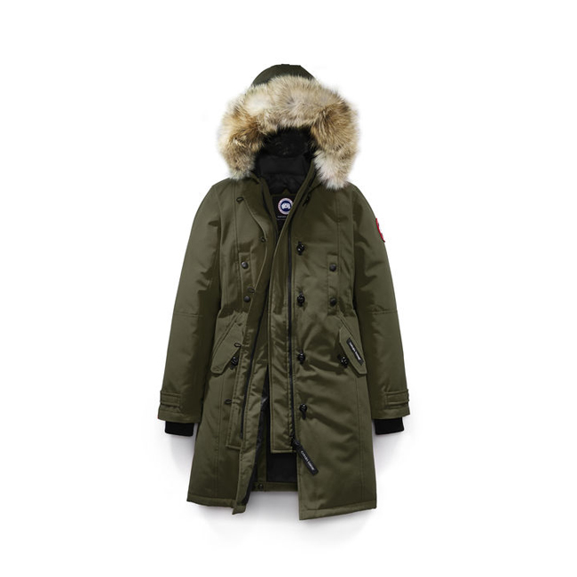 Cheap Canada Goose Women Kensington Parka Fusion Fit Military Green Sale