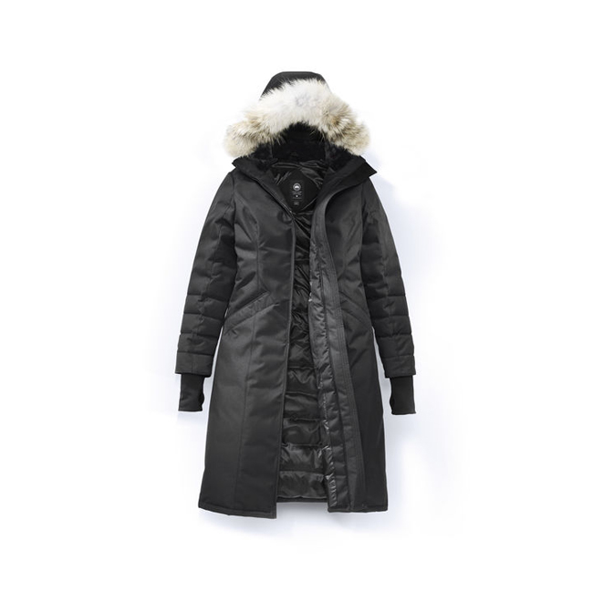 Cheap Canada Goose Women Elrose Parka Black Label Graphite Herringbone Sale