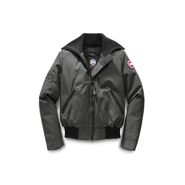 Cheap Canada Goose Women Huron Bomber Graphite Sale