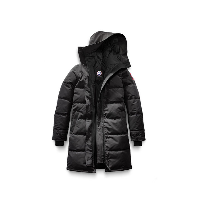 Cheap Canada Goose Women Shelburne Parka Non-Fur Black Sale