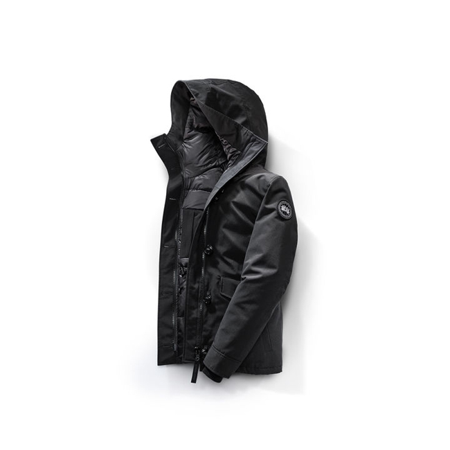 Cheap Canada Goose Women Rideau Parka Black Label Black Sale